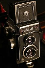 Medium format 120 film camera Yashicaflex Model AS-II w/ built-in light meter
