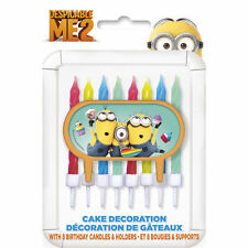 Despicable Me 2 Minions Party Cake Topper 8 candles Decoration Holder
