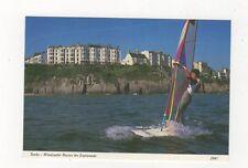 Tenby Windsurfer Passes The Esplanade 1999 Postcard 870a
