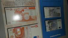 Postcard Germany the new banknote 5 EURO and 10 EURO