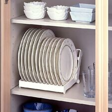 Foldable Dish Plate Drying Organizer Drainer Rack Plastic Storage Holder Kitchen