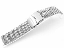 20mm Stainless Steel SHARK mesh bracelet Diving Watch replacement band parts