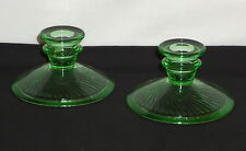 "Imperial TWISTED OPTIC GREEN *3"" CANDLEHOLDERS*PAIR*"