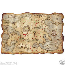 "Party Decoration Prop Party Favor PIRATE TREASURE MAP Buried Treasure 12""x18"""