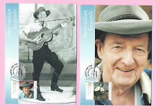 AUSTRALIA FDC 2001 - Set of 2 MAXICARD - Legends SLIM DUSTY - Shs KEMPSEY, NSW