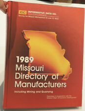 1989 Missouri Directory of Manufacturers  including Mining and Quarrying HB