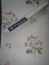 SANDERSON WALLPAPER ENGLISH ROSE 7 ROLLS  WR8612/1 OSTERLEY COLL PINK/IVORY