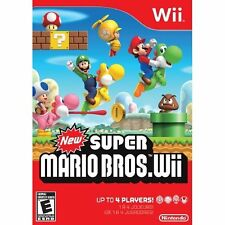New Super Mario Bros Wii With Manual And Case Very Good 3Z