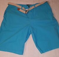 American Eagle outfitters  womens shorts light blue size 34 with belt 4 pockets