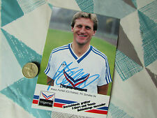 Klaus FITCHEL  FC Shalke & 1970  WC Player ORIGINAL Hand Signed FOOTBALL Photo
