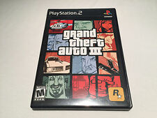 Grand Theft Auto III,3 (Playstation PS2)  Black Label Complete with Poster Exc!
