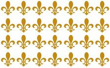 Lot of 28 small Fleur De Lis, New Orleans,French, decals or stickers vinyl cut.