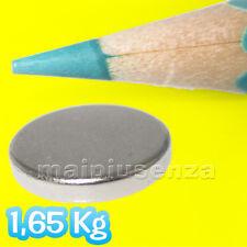7 magneti super potenti DISCO 12x2 mm magnete calamita NEODIMIO 1,65 Kg calamite