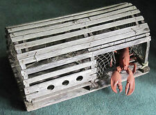 Awesome Large Antique New England Lobster Trap With Bonus Round Plastic Lobster