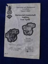 TECUMSEH SNOW KING OPERATE MAINTENANCE INSTRUCTIONS HORIZONTAL CRANKSHAFT ENGINE