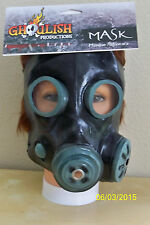 ADULT SMOKE BLACK GAS MASK ZOMBIE BIOHAZARD APOCALYPSE COSTUME TB26380