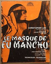 Dossier de Presse LE MASQUE DE FU-MANCHU Face of Fu-Manchu CHRISTOPHER LEE *c