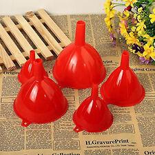 5 Größe/set Trichter Set Einfülltrichter Fülltrichter Kunststoff Rot Küche HOT
