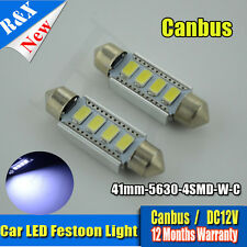 2X C5W CAR BULB LED ERROR FREE CANBUS 5630 WHITE FESTOON NUMBER PLATE INTERIOR