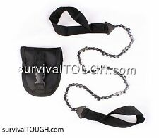 (48 Inch) survivalTOUGH- Survival Pocket Chainsaw with Pouch. Only weighs 8oz!