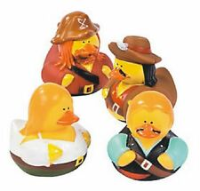 Set of 4 Swashbuckling Pirate Rubber Ducks Duckys Duckies #161292 Favor Topper