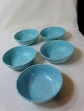5-TURQUOISE MELMAC MELAMINE CEREAL/SOUP BOWLS  Northern Boston 27