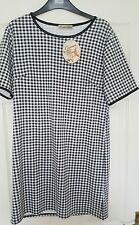 Ladies new look black white gingham dress short sleeve BNWT RRP £17.99