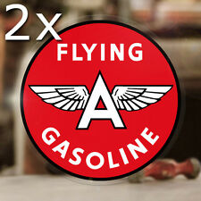"""2x pieces Flying A Gasoline sticker decal hot rod rat vintage old school 3.5"""""""