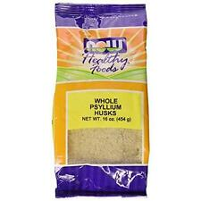 NOW Foods Psyllium Husks Whole, 16 Ounce New