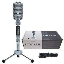 Retro Style USB Podcast Recording Steel Alloy Vintage Microphone with Stand