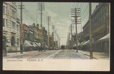 Postcard VICTORIA BC/CANADA  Government St Business Storefronts view 1905