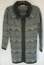MARYLINE Long Sleeve Button Front Sweater Coat Size S