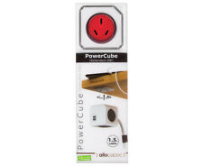 ALLOCACOC PowerCube Extended USB 1.5m Cable 4xOutlet 2xUSB Red
