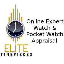 Watch & Pocket Watch Insurance Replacement Value Online Appraisal