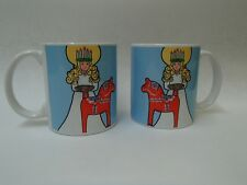 ONE Scandinavian Swedish Lucia & Dala Horse Coffee Tea Mug #324U