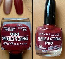 N° 545 Red Brick TENUE & STRONG PRO de Gemey Maybelline Vernis à Ongles