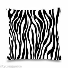 Brand New Vintage/Retro Zebra Animal Print Cushion Cover - SALE - 16 X 16 UK