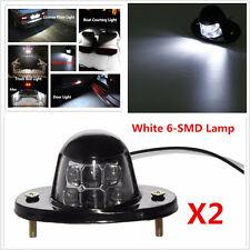 2x License Plate White 6-SMD Lamp LED Car  Light Motorcycle Bulb Bolt Universal