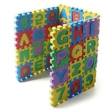 36X Puzzle Kid Educational Toy Alphabet A-Z Numeral Foam Mat For Age 1~7 SP2G