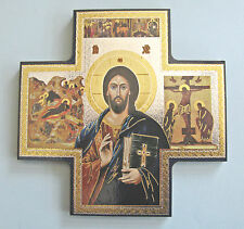 Icon Cross Wall Hanging Jesus Pantocrator