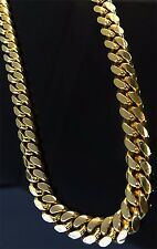 "14K Miami Cuban Link Chain Solid Gold, 26"" 8.3 MM 134.2 Grams Heavy Necklace Men"