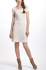 SPARROW ANTHROPOLOGIE IVORY GILT GOLD SWEATER DRESS SIZE LARGE NWT