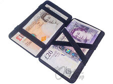 Black Leather Magic Wallet Milkman Taxi Trader Money Bus Smart Puzzle Driver PU