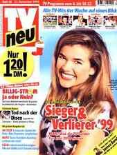 Fernseh-Magazin TV NEU Nr. 48 v. 1999, Titelseite Anke Engelke; Guildo Horn uvm