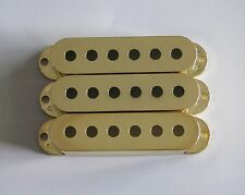 52mm Gold 3 Single Coil ST Strat Guitar Pickup Covers fits Fender Stratocaster