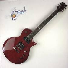 ESP LTD EC-100QM Electric Guitar (See-Thru Black Cherry)