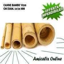 CANNE DI BAMBU' ALTEZZA CM 210 DIAMETRO MM. 24/26 CONFEZIONE DA 10 PZ.