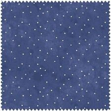 A Quilter's Garden by Bird Brain Designs  -  Country Blue White Dots