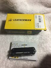 Leatherman ES4 BLACK SQUIRT HANDY 9 IN 1 Multi-tool Keychain Size