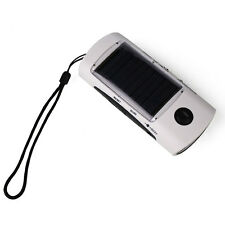 Solar Panel LED Flashlight Torch FM Radio Mobile Cell Phone Battery Charger